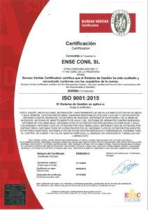 Certificación ISO 9001:2015 ENSE Conil Bureau Veritas